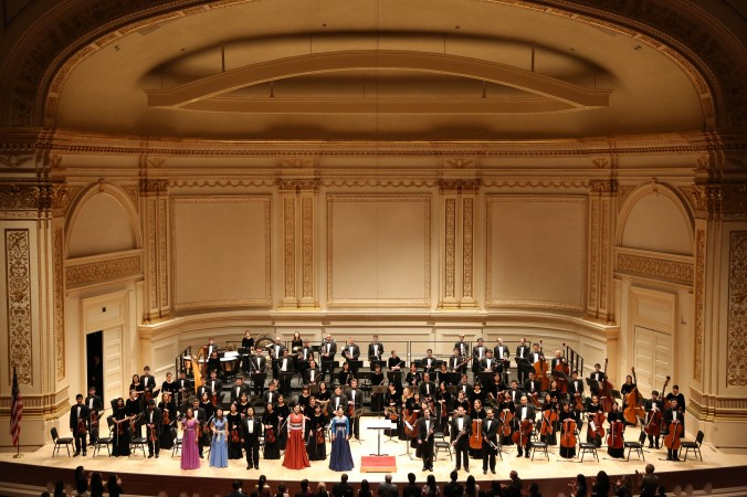 Shen Yun Symphony Orchestra at Carnegie Hall last October 5 2013.